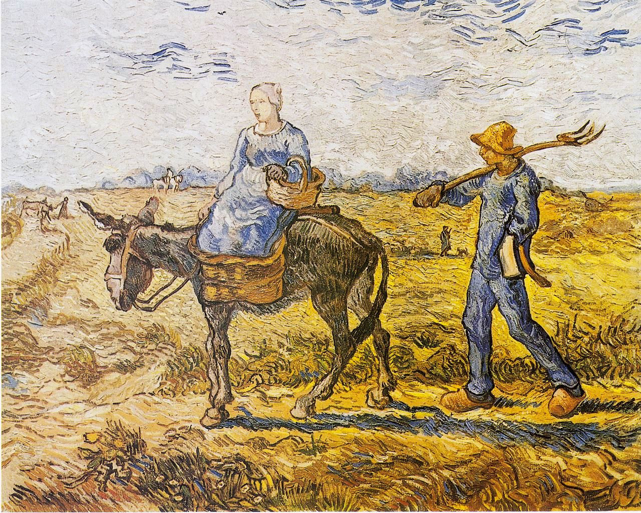 Peasant Couple Going to Work (after Millet) (also known as 'Morning: Going out to Work')
